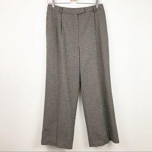 Eddie Bauer High Waist Houndstooth Pants 10 Pleats